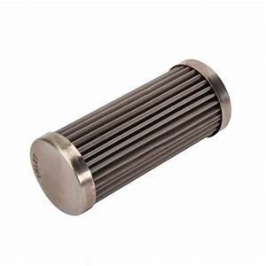 Speedway Premium 4 Inch Fuel Filter Element  Stainless Steel