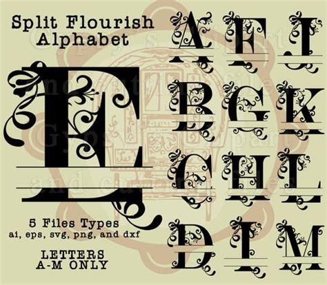 split letter svg split monogram letter fancy letter swirls