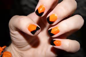 Orange Halloween Nail Art Designs