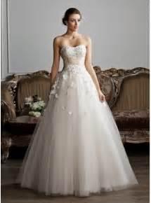brautkleid ballkleid gown sweetheart floor length tulle charmeuse wedding dress with ruffle sash beading