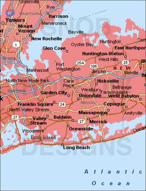 Oyster Bay Gardens by Nassau County New York Color Map