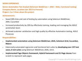 qa tester resume with selenium experience real world selenium resume which gets more interviews
