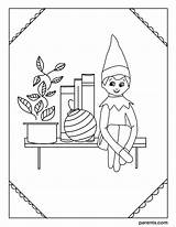 Elf Coloring Shelf Printable Bedroom Boy Io Excited Inspired Imagesvc Meredithcorp Parents Elves Inventive Ways Children sketch template