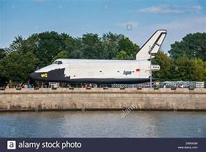 Buran space shuttle test vehicle in the Gorky Park on the ...