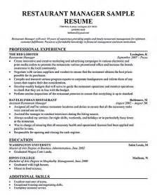 restaurant manager resume summary restaurant manager resume will ease anyone who is seeking for related to managing a