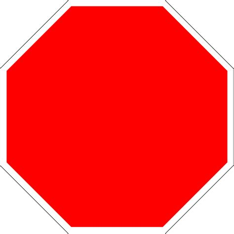 stop sign template symbol