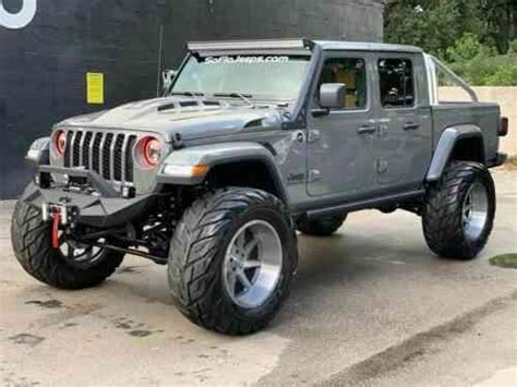 jeep gladiator sting grey lifted custom gladiator  classic cars
