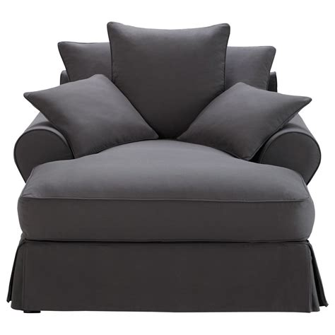 maisons du monde chaise cotton chaise longue in slate grey bastide maisons du monde