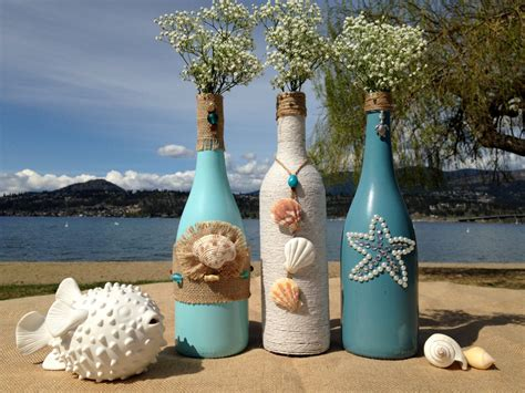 Decorative Wine Bottles For Wedding by Weddings Painted Wine Bottles Wedding Centerpiece