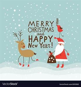 funny, deer, and, santa, claus, royalty, free, vector, image