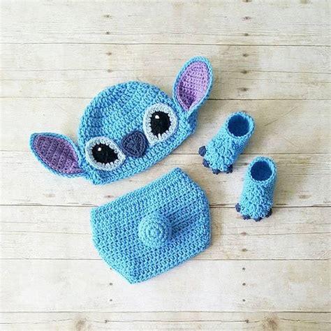 crochet stitch hat beanie diaper cover shoes lilo