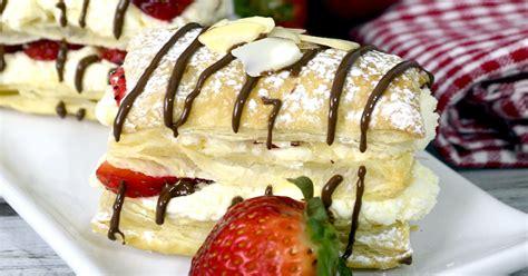 Strawberry Cheesecake Napoleons - Real Housemoms