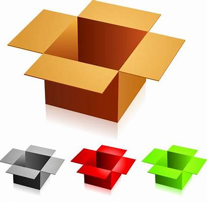 Clipart Boxes Corrugated Cliparts Clip Packaging Brown