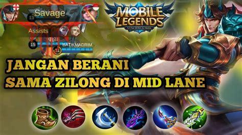 Zilong Mid Lane Auto Win    Mobile Legend   Zilong Savage