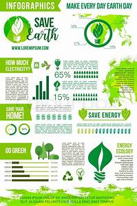 Earth Day Vector Infographics Elements On Energy