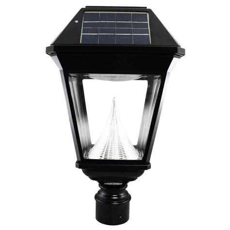led post light bulb gama sonic imperial ii solar black outdoor integrated led