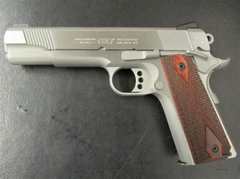 Colt Government Model Stainless 1911 45acp For Sale