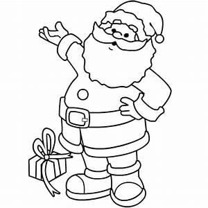 Christmas Coloring Page SANTA - Coloring Home