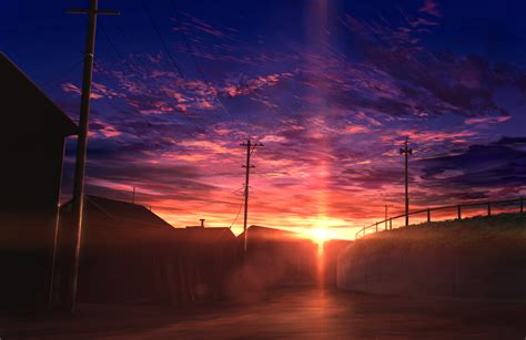 Anime Sunset Wallpaper - the city sunset wallpaper and background image 1296x841