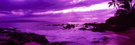 purple sunset   coast makena beach maui hawaii