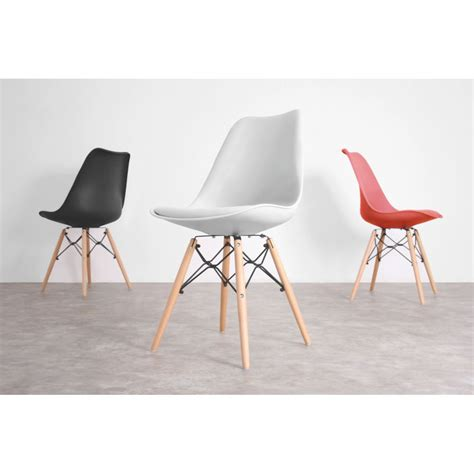 chaise bois metal lot de 2 chaises design dogewood by drawer
