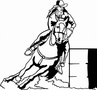 Barrel Racing Race Horses Horse Coloring Pages