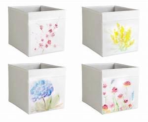 Ikea Kallax Boxen : ikea drona storage 1 white box expedit kallax insert aquarelle pastel flowers bits n pieces ~ Watch28wear.com Haus und Dekorationen