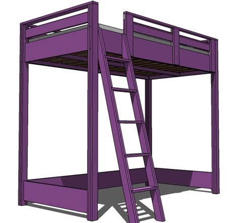 wooden loft bed plans   build  amazing diy
