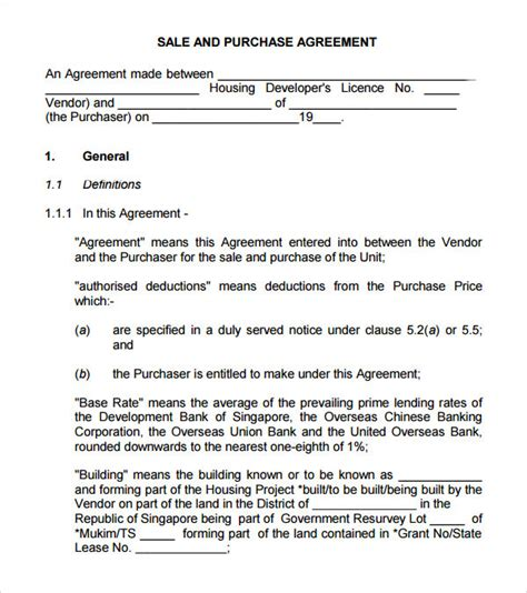 sample buy sell agreement   documents   word