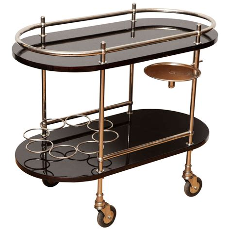 Rolling Bar by Deco Rolling Bar Cart At 1stdibs