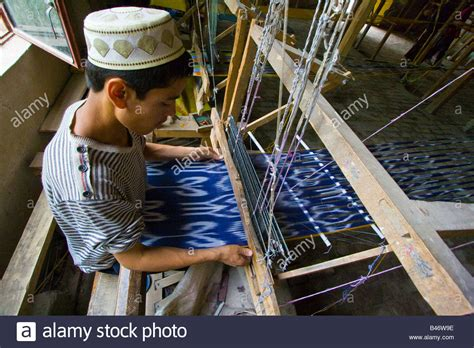 weaving silk  atlas silk weaving  hotan xinjiang