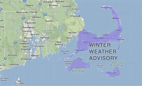 Winter Weather Advisory For Cape Cod  Islands  Right Weather