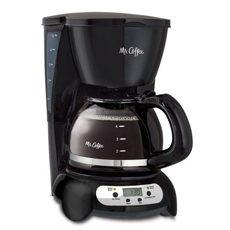 This drip machine also comes with a special single cup filter basket for kalita wave filters. Mr. Coffee 5 Cup Programmable Black & Stainless Steel Drip Coffee Maker - Walmart.com - Walmart.com