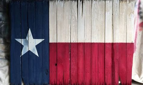 rustic texas flag  wooden pallets
