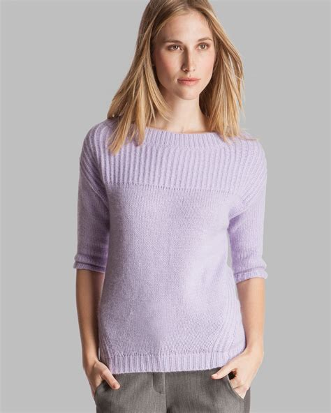 lilac sweater sweater boat neck sleeve in purple lyst