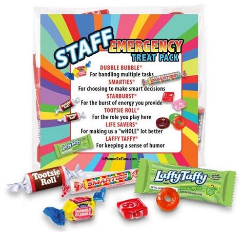 Staff Emergency Treat Pack Survival Kits Employee