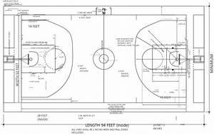Basketball Court Size For Ncaa  Nba  Wnba  U0026 Fiba Leagues