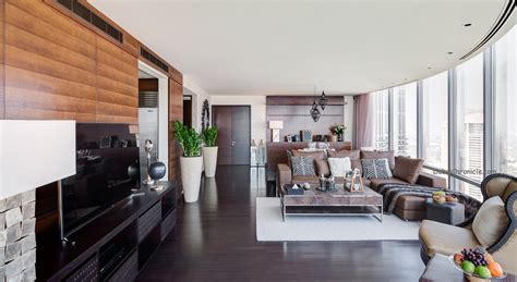 faux fur area inside this lovely 2 bedroom apartment in burj khalifa