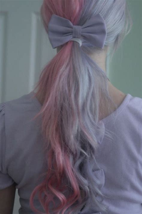 Lilac And Pastel Pink Hair Ponytail Pretty Hairs