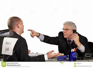 Senior Manager Rejecting Applicant Stock Photo