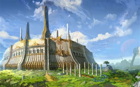 Permalink to Fantasy Buildings Wallpaper