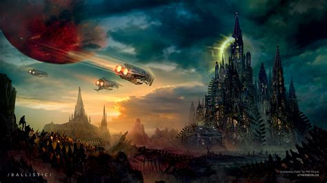 space ships fly   city wallpapers  images