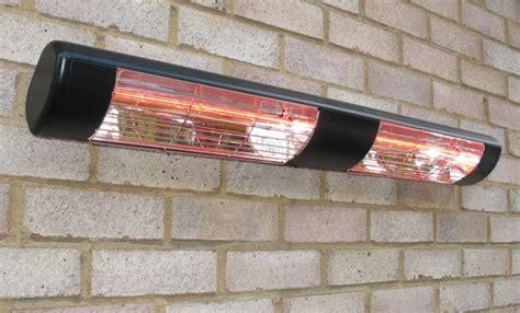 3kw black dual wall mounted quartz halogen bulb electric