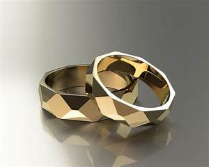 Polygon Wedding Rings 3D Model 3D Printable Stl 3dm