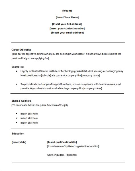Entry Level Customer Service Resume by 6 Customer Service Resume Templates Pdf Doc Free