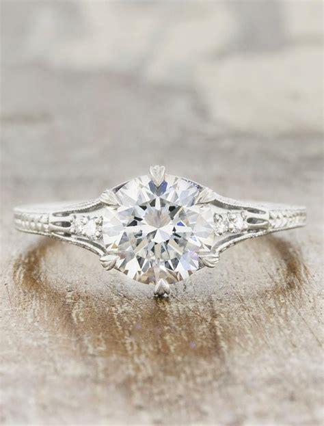 kenzi vintage style ring intricate band ken design