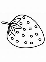 Strawberry Coloring Pages Berries Print Fruits Printable Colors Recommended Getcolorings sketch template