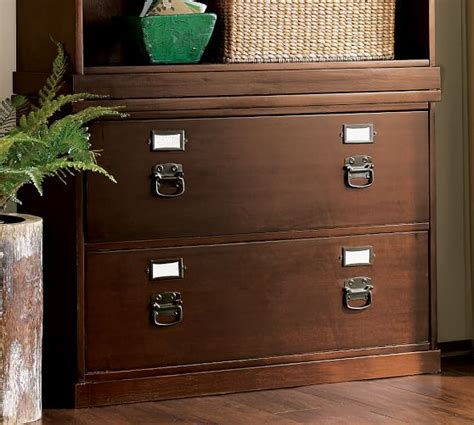 lateral file cabinet wood bedford lateral file cabinet pottery barn