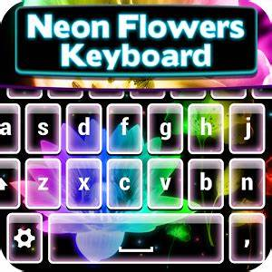 Download Neon Flowers Keyboard Theme for PC