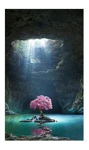 Cave Lake Wallpaper, HD Nature 4K Wallpapers, Images ...